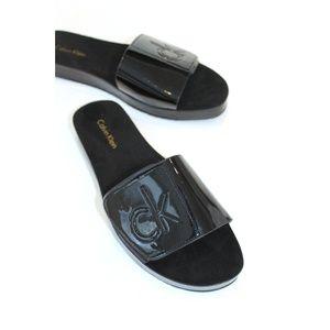 NEW Calvin Klein Black Slides Parlina Size 8